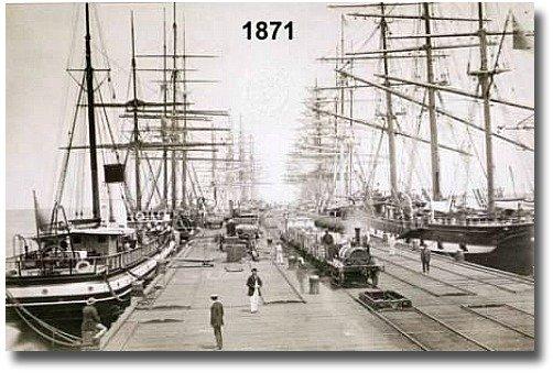 Melbourne Docklands Pier circa 1800's