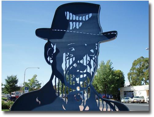 Tribute To Banjo Paterson - Orange - NSW compliments of http://www.flickr.com/photos/pikerslanefarm/3452515221/