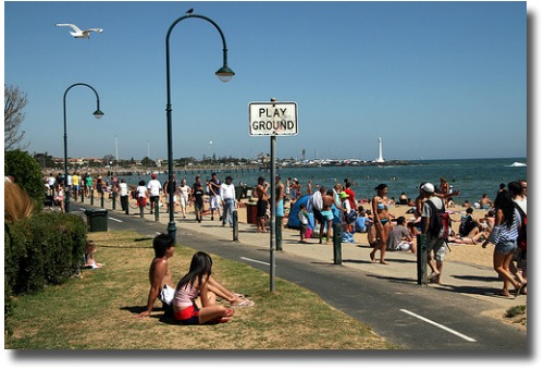 St Kilda foreshore compliments of http://www.flickr.com/photos/reinis/379177046/