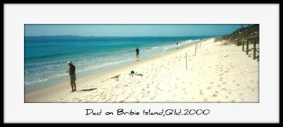 Dad and his Brothers on Bribie Island