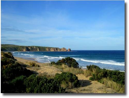 Cape Woolamai surf beach on Phillip Island, Victoria compliments of http://www.flickr.com/photos/czls/3741278311/