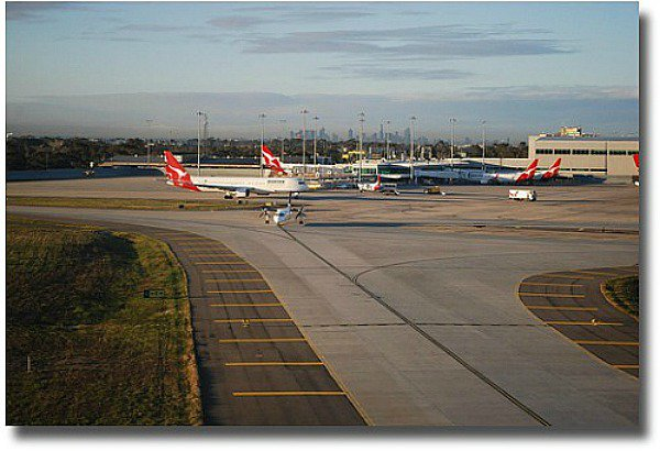 Melbourne City from the Airport compliments of http://www.flickr.com/photos/avlxyz/3694240146/