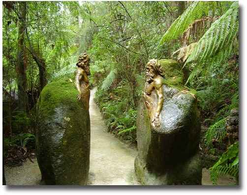 Entrance to the William Ricketts Sanctuary in the Dandenong Mountains Melbourne Australia compliments of http://www.flickr.com/photos/shantavira/456531479/