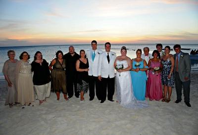 Aruba Wedding Beach Family Photo