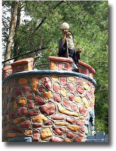 Statue of Merlin the Magician at Anakie Fairytale Park Victoria