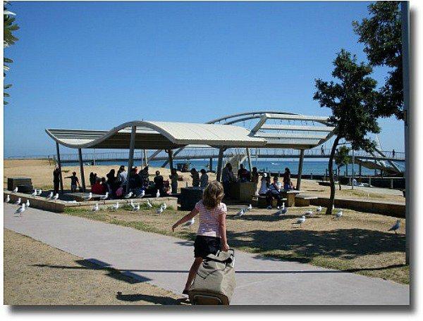 Frankston Foreshore on Port Phillip Bay Melbourne Australia