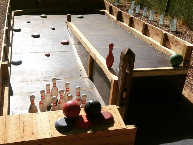 The old 10 pin bowling rink at Maze House