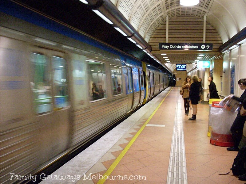 Getting around Melbourne using the train service through the underground rail