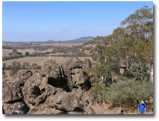 View from the top of Hanging Rock in the Macedon Ranges, Melbourne Australia compliments of Steve Curle