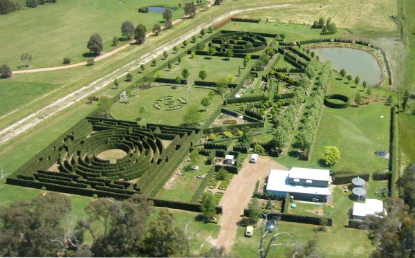 High Country Maze Gardens taken from the air