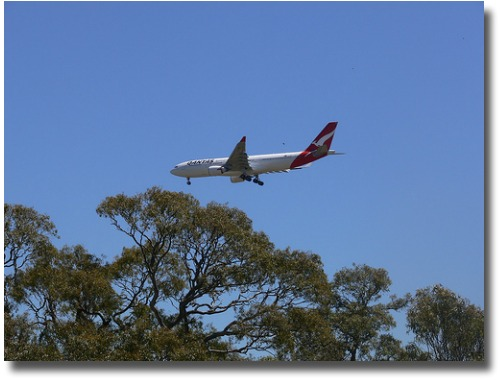 Plane landing over Woodlands Historic Park Melbourne Australia compliments of http://www.flickr.com/photos/flying_cloud/2208223111/