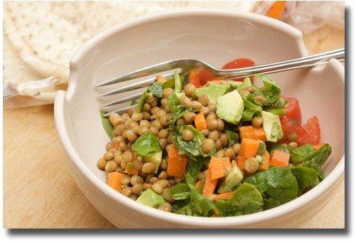 Lentil Salad mix compliments of http://www.flickr.com/photos/penguincakes/5237207595/