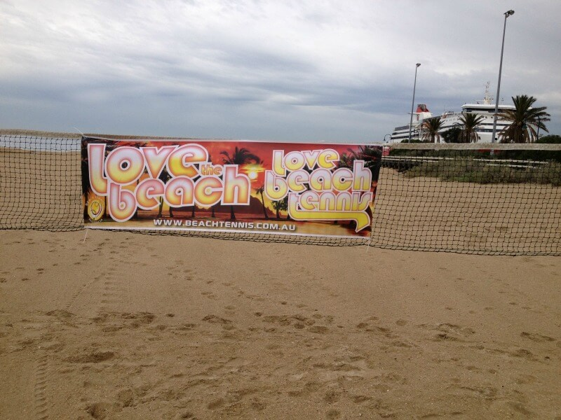 beach tennis at Port Melbourne Beach Melbourne Australia
