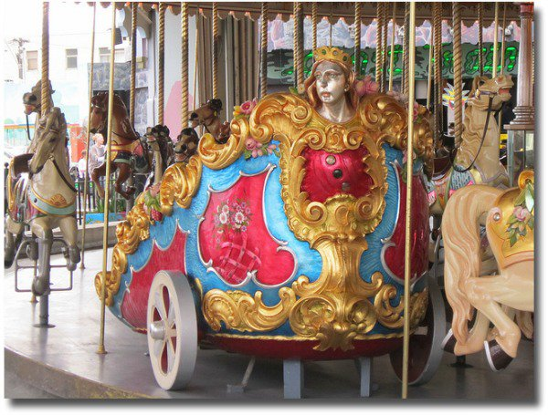 Melbourne's Luna Park heritage carousel compliments of http://www.flickr.com/photos/84987970@N00/5597621741/in/photolist-9wDgVF#