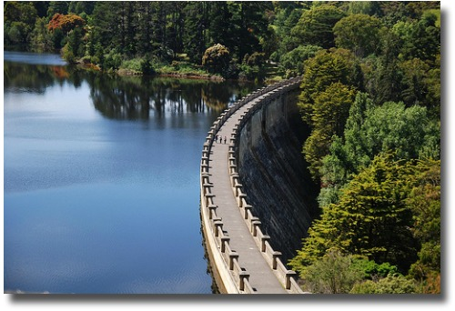 Maroondah Dam retaining wall Melbourne Australia compliments of http://www.flickr.com/photos/avlxyz/5300528575/