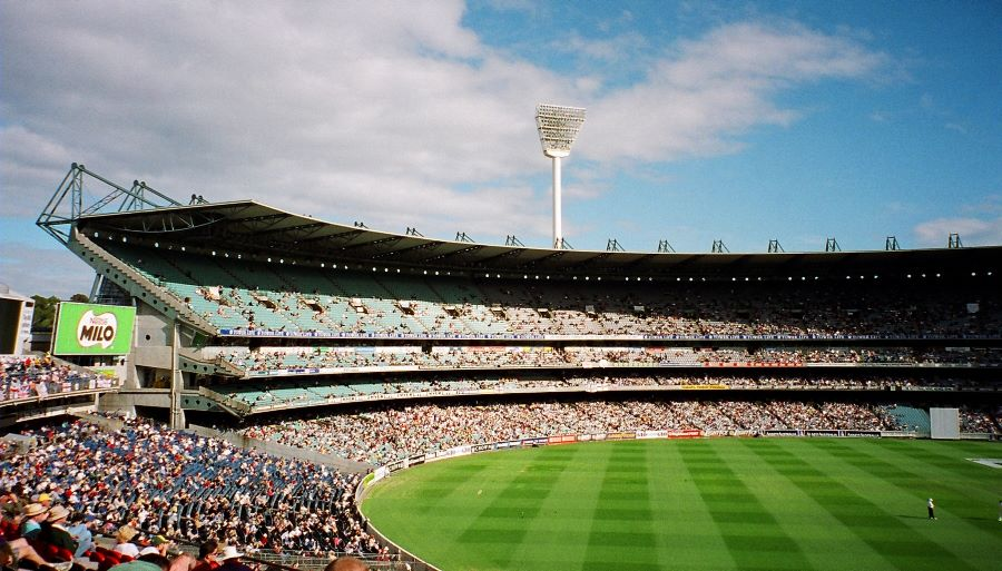 Australian Cricket supporters at the Melbourne Cricket Ground compliments of http://www.flickr.com/photos/cmrlee/7272541970/