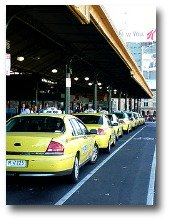 Melbourne taxi ramp outside Flinders Street Station compliments of http://www.flickr.com/photos/29877454@N04/3435020712/