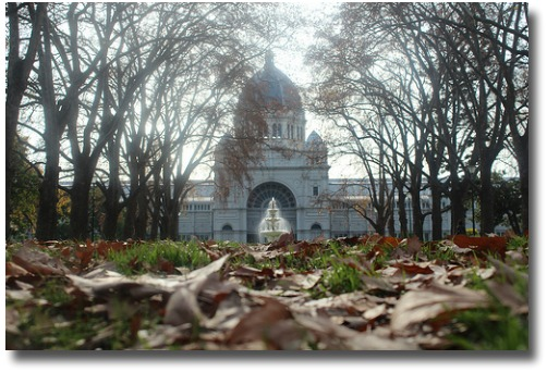 Cold day outside Exhibition Buildings Melbourne - Australia compliments of http://www.flickr.com/photos/8811359@N03/7493453118/