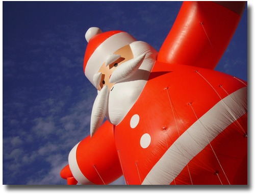 Big blow up Santa Balloon compliments of http://www.flickr.com/photos/bartfields/312541706/