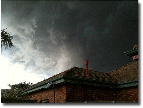 Wild storm Melbourne 2011 compliments of http://www.flickr.com/photos/tom-paton/6357400129/