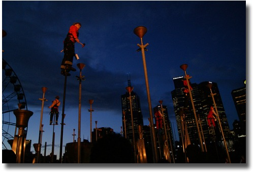 Birrarung Marr in Melbourne Australia during the Melbourne International Arts festival compliments of http://www.flickr.com/photos/osakaben/4005922876/