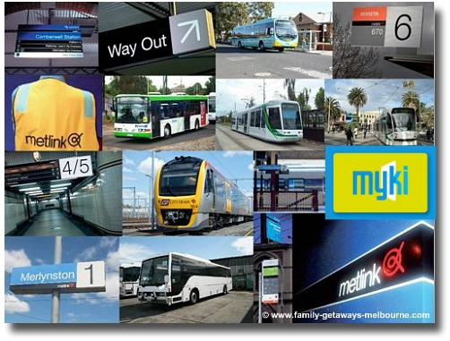 Metlink collage with Myki ticket