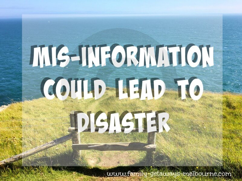 Mis-information leads to disaster