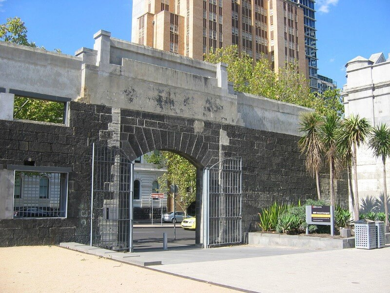 The Old Melbourne Gaol Entrance