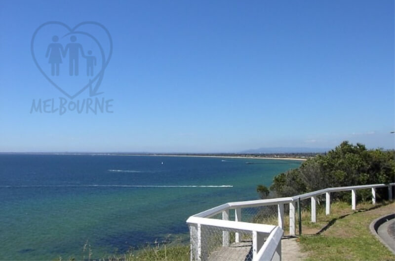 View Over Frankston beach From Olivers Hill in Victoria, Australia