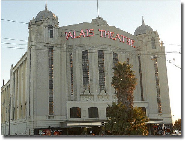 The Palais Theatre in St Kilda compliments of http://www.flickr.com/photos/mikecogh/5592196100/.