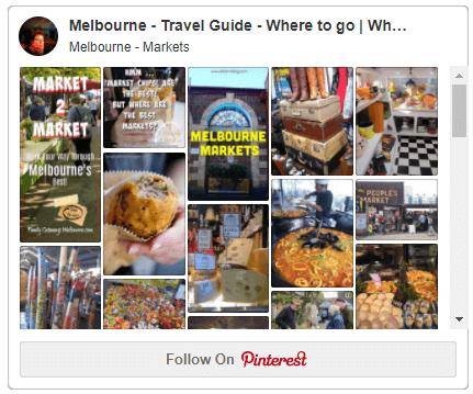 Pinterest Melbourne Markets board