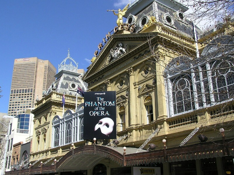 Princess theatre in Melbourne Australia
