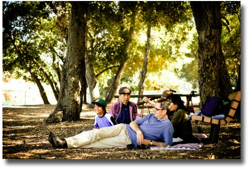 family relaxing on a picnic day out compliments of  http://www.flickr.com/photos/imayellowfellow/4750053397/