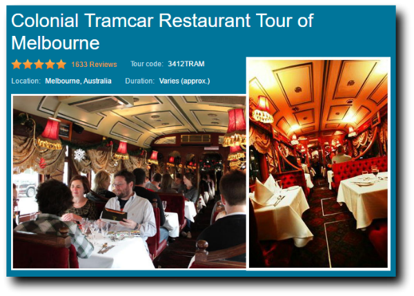 city circle tram restaurant tour