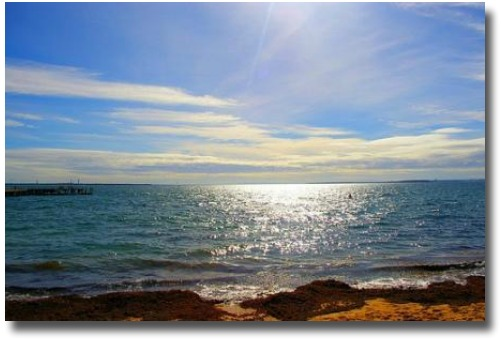 Sandy Beaches Of San Remo