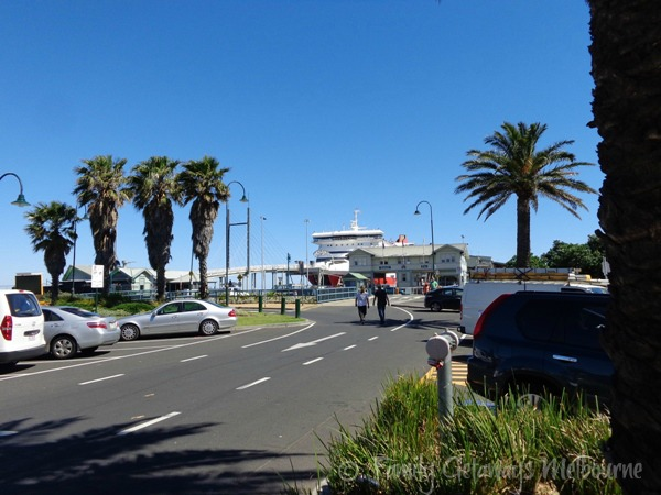 Sorrento Ferry docking at Queenscliff.