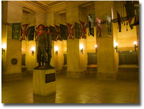 The Shrine Of Remembrance Crypt compliments of http://www.flickr.com/photos/paulrobertlloyd/4396125735/