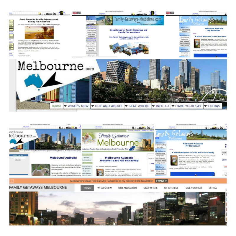 changing faces of Family Getaways Melbourne
