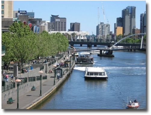Ferries at Southbank in Melbourne, Australia compliments of http://www.flickr.com/photos/suewaters/1576078884/in/photostream/