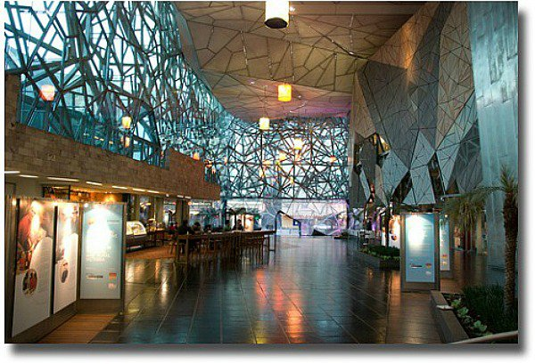 The Atrium at Federation Square Melbourne, Australia compliments of http://www.flickr.com/photos/pics-or-it-didnt-happen/4567244200/