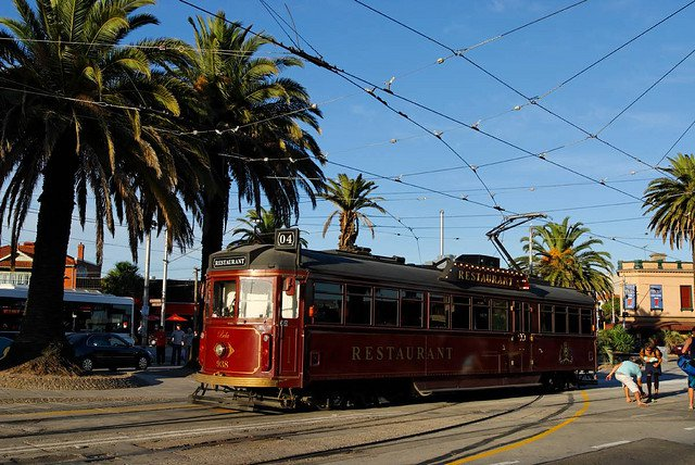 The Melbourne colonial tram car restaurant in St Kilda compliments of https://flic.kr/p/4x33QT