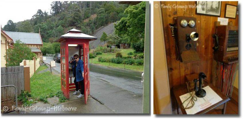 Collage of olden day communication in Walhalla Victoria Australia