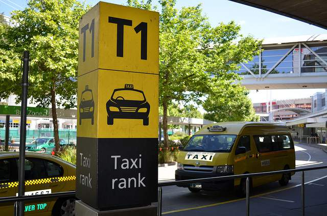 Melbourne Airport Taxi Rank compliments of https://flic.kr/p/aH8Krt