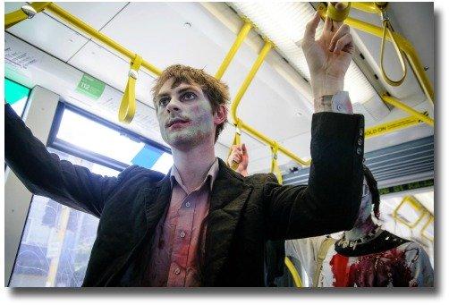 2012 Zombies on Melbourne Australia public transport compliments of Liz Nigol